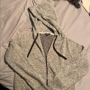 Gray full zip hoodie